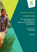 Vacant, Fallow and Virgin Land Law: a case study in Sagaing Region, Myanmar