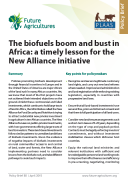 The biofuels boom and bust in Africa : a timely lesson for the New Alliance initiative (PLAAS)