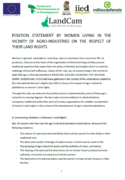 Position statement by women living in the vicinity of agro-industries on the respect of their land rights