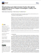 Transforming Land Administration Practices through the Application of Fit-For-Purpose Technologies: Country Case Studies in Africa